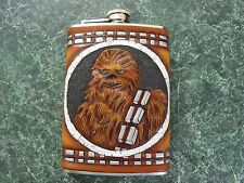Star Wars themed leather & stainless steel flask. Can be Personalized.