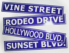 Hollywood Street Signs Packag, Vine, Sunset, Rodeo dr - 3074