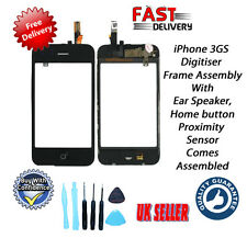 iPhone 3GS Digitiser & Frame Assembly with Home Button Ear & Speaker Tools Inc
