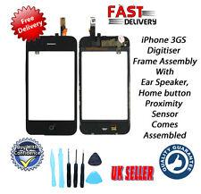 Iphone 3GS Digitalizador & Conjunto De Marco con Herramientas de Altavoz & oreja de botón de inicio Inc