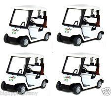 4 x 4.5 inch Diecast metal Golf Club Cart model caddy car w. club Pull Back act