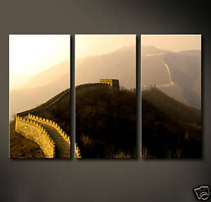 CHINESE WALL Leinwand Bild China Mauer Modern Schwarz Abstrakt Wandbild No Poste
