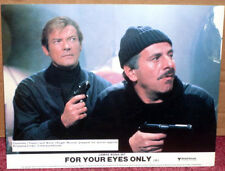 FOR YOUR EYES ONLY (James Bond) 1981: UK Lobby Card (With Guns) Roger Moore