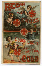 RED CROSS COUGH DROPS CURE COLDS WING FLOUR MILL CO ST LOUIS MO