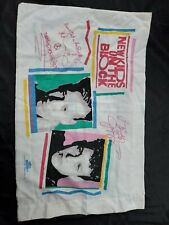 Used Vintage New Kids On The Block Pillow Case And Twin Sheet