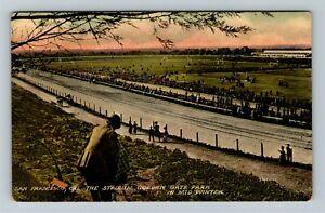 San Francisco CA-California, Horse Race Track Golden Gate Park, Vintage Postcard