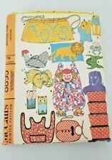 Vintage Toy Patterns McCalls 1967 25 Unique Items Uncut 8895 Clown Bags Hats