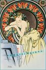 Woman with Poppies 1898 by Alphonse Mucha Vintage Poster Print Art Nouveau