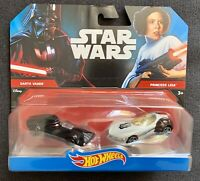 MATTEL HOT WHEELS STAR WARS 2 Pack Darth Vader vs. Princess Leia NEW