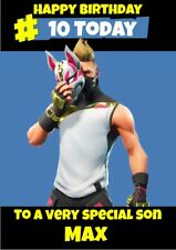 personalised birthday card Fortnite Drift any name/age/relation.