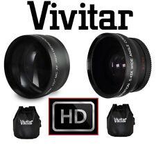 2PC Kit Obiettivo HD Ampio Angolo Visivo & 2.2 x Teleobiettivo Set per Canon Eos