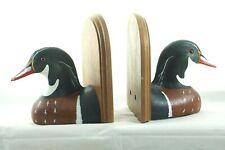 Jennings Decoys Wood Ducks Bookends Resin St Cloud Mn