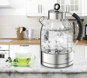 ASCOT Electric Kettle Tea Kettle 1.7QT 1500W Glass High-Quality BPA-Free NEW