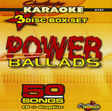 Power Ballads 3 Disc Set Chartbuster 5137 Karaoke CD+G In Case With  Song List
