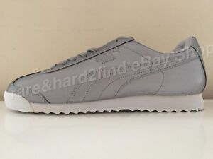 Puma ROMA Reflective Silver (Grey) Trainers UK 10.5 Deadstock  2017 RARE Classic