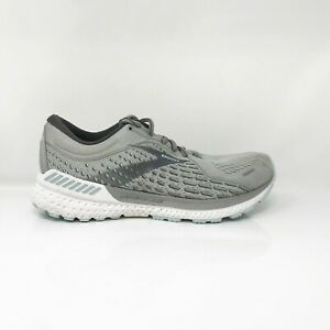 Brooks Womens Adrenaline GTS 21 1203292E061 Gray Running Shoes Size 9.5 2E