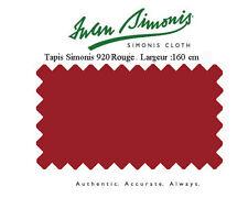 Tapis drap de billard 7Ft 210x160 US Simonis 920 rouge