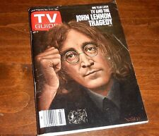 TV And The John Lennon Tragedy One Year Later : TV Guide Nov. 21-27 1981