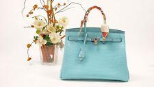 30 Cm Women Birkin Style DESIGNER Inspired Genuine Leather Top Handbag