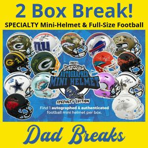 DALLAS COWBOYS Signed GOLD RUSH SPECIALTY Mini Helmet + Football: 2 BOX BREAK