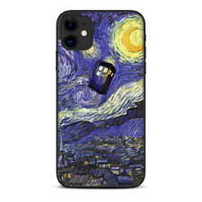 Skins Decal Wrap for Apple iPhone 11 - Tardis Starry Night