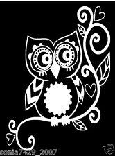 OWL sticker decal car window vinyl Laptop Tribal Girl Love Owl Sticker Decal A19