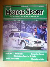 Motor Sport Magazine- Mercedes Benz In Britain,March, 1986, Vol. Lxii, No.3