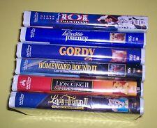 6 DISNEY VHS DALMATIONS INC JOURNEY GORDY HOMEWARD LION KING LADY TRAMP ANIMATED