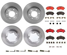 Front & Rear Brembo Brake Kit Disc Rotors Ceramic Pads Sensors For Dodge MB NCV3