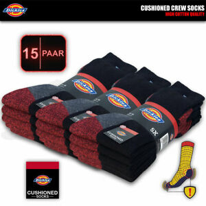 15 Paar DICKIES CUSHIONED CREW Work Arbeitssocken Business Socken Strümpfe Socks