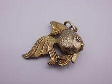 schöner Bettelarmband Anhänger / Charm Gold 585  punziert Fisch / Koi