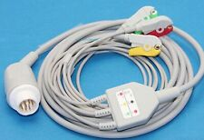 Hp Philips M1722a 8pins Ecg Cable 3 Leads Iec Clip Compatible