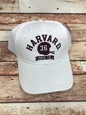 Harvard Crimson Football White Adjustable Fit Baseball Hat Cap OSFM Champion