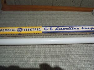 "NOS  GE  Lumiline 17.75"" 60w 115v Frosted Lamp GENERAL ELECTRIC Light Bulb"