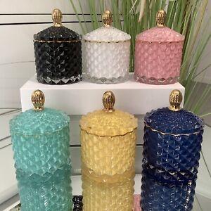 Soy Candles Mini |Geo Jars 20Hrs - Tiffany Blue ,White,Pink-J Serenity Australia