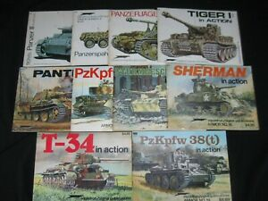 Lot of 10 Squadron/Signal Publications Armor Series 1972-1981
