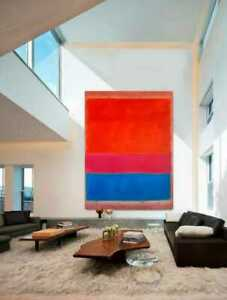 Rothko Canvas Royal Blue Red Reproduction Artist