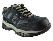 "77013 Skechers Men's Work: SOFT STRIDE-GRINNELL ""Safety shoe"" NAVY/GRAY NVGY"