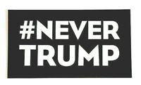 Political sticker #NEVER TRUMP presidential candidate Donald Trump 2016 decal