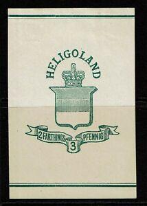 Heligoland 2F 3P Mint Hinged, Hinge Remnants - S13898