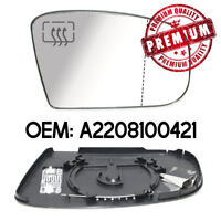Right Wing Mirror Glass Wide Angle Heated Base For Mercedes Benz S Class W220