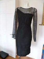 Roland Mouret magnolia black lace  dress uk size 8 nwt