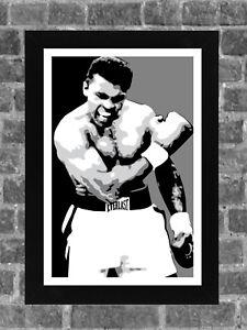 Muhammad Ali Boxing Portrait Sports Print Art 11x17