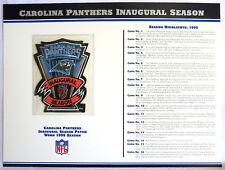 CAROLINA PANTHERS ~ INAUGURAL SEASON NFL PATCH STAT CARD Willabee Ward WORN 1995