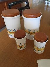 4 FOC-ART Ceramic Canisters Pottery Santa Maria dePalautodera Barcelona Spain
