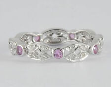 Pink Natural Eternity Fine Rings
