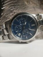 DKNY NY-8122 UNISEX CHRONOGRAPH WATCH IN BLUE & SILVER - AU STOCK !