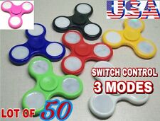 LOT OF 50 X  LED SPINNER FIDGETS SWITCH CONTROL 3 MODES ,CHRISTMAS GIFT