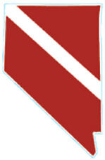 Scuba Dive Bumper Sticker Nevada State Dive Flag DS76 NV