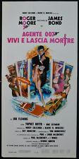 locandina VIVI E LASCIA MORIRE LIVE AND LET DIE ROGER MOORE JAMES BOND 007